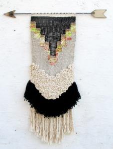 Janelle Pietrzak weaving