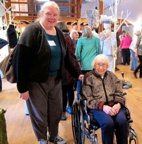 "Lisa Torvike and her husband Neal were so great about getting Lila out; here are Lisa and Lila at the ""Nordic Roots"" exhibit opening in Dassel, MN"