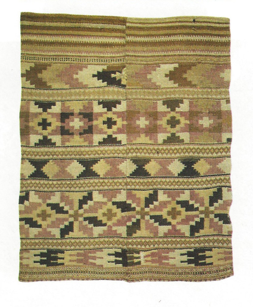 Example of a Norwegian banded coverlet from the book Ruteåklær by Marit Wang.