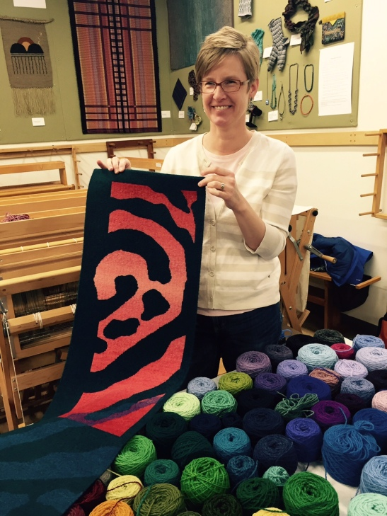 Rebecca Mezoff at the Weavers Guild of Minnesota