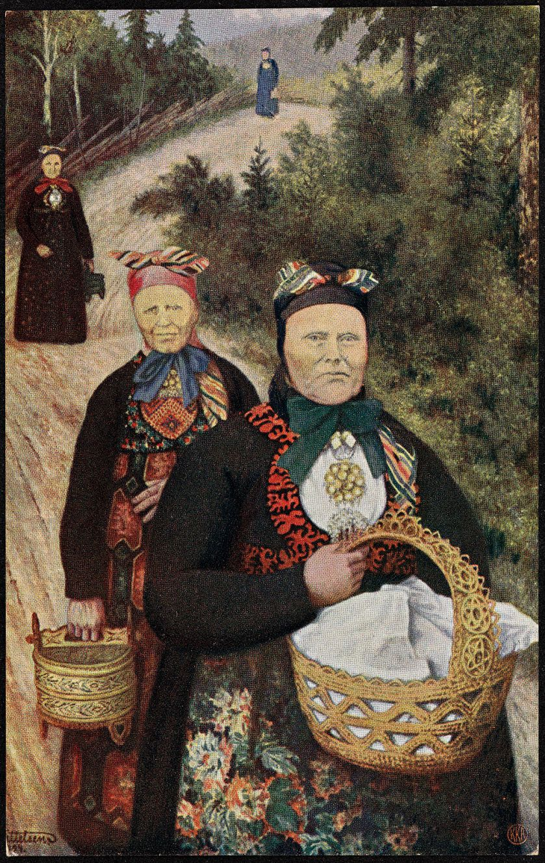 Th._Kittelsen,_Grautkjerringer,_postkort